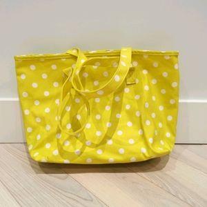 New polka dots yellow tote